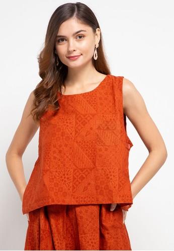 Batik First orange Vest Crop SideButton 9CEC6AAAFB8823GS_1