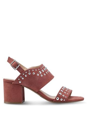 Dorothy Perkins 粉紅色 水鑽粗跟涼鞋 80BAASH1B85021GS_1