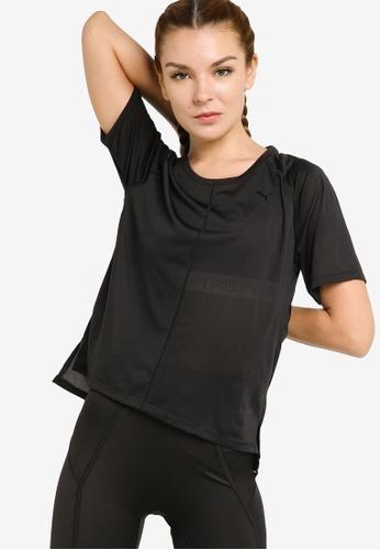 PUMA black Studio Graphene Relaxed Fit Women's Training Tee 4939AAA0E9B5C4GS_1