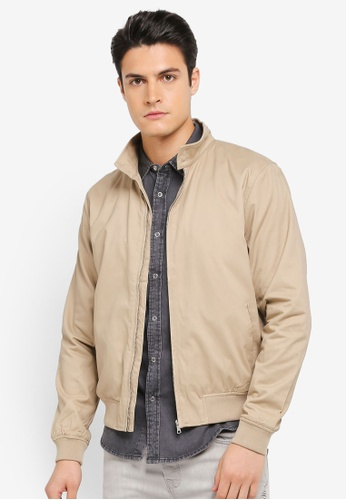 Topman beige Stone Harrington Jacket TO413AA0T1ICMY_1