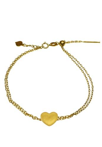 LITZ gold [SPECIAL] LITZ 999 (24K) Gold Love With 9K Yellow Gold Bracelet 爱心手链 EPC0893-9KB 547B0AC8177485GS_1