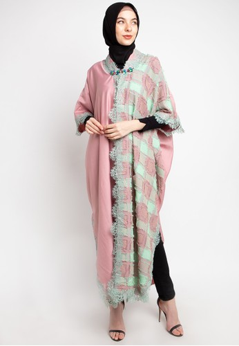 LUIRE by Raden Sirait pink and multi MS Krah Stali Panjang BLJ 38671AAECDED61GS_1