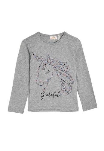 KOTON grey Casual T-Shirt 27440KAABE0BF9GS_1