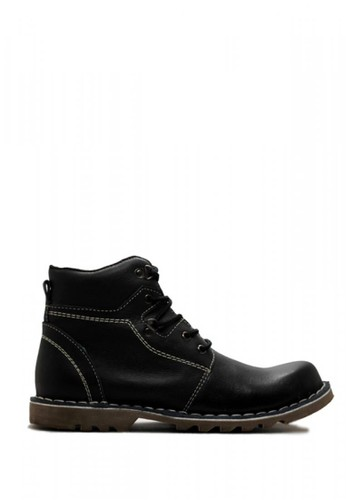 Cut Engineer black Cut Engineer Safety Boots Genuine Leather Sole Rubben Black FAB88SH78B423DGS_1