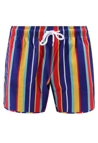 Topman multi Stripe Munday Swim Shorts 38CF7US7DB72A2GS_1