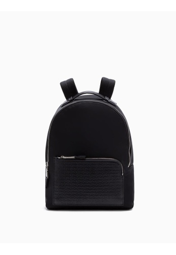 Calvin Klein black Woven Logo Backpack Small 0032AAC6E28957GS_1