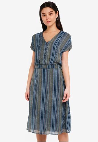 ICHI blue Cetro Dress 6A668AA5D56762GS_1
