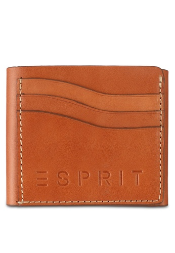 Esprit brown Small Leather Wallet 3FC1CAC6A4A78DGS_1