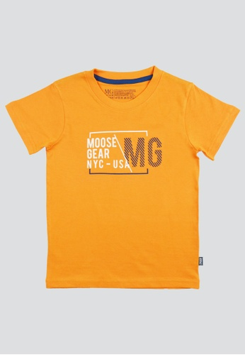 Moose Gear orange T-Shirt Soft and Thin Cotton For Boys IW 93879KA96D3A15GS_1