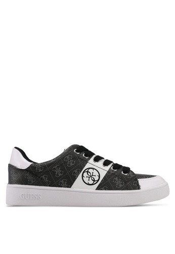 Guess black and white Active Sneakers 053E1SHF7EB125GS_1