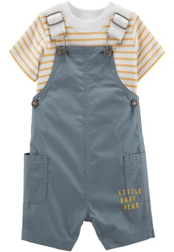 Carter's blue CARTER'S Boy Little Baby Bear Tee & Shortall Set D4566KA8CCDB68GS_1