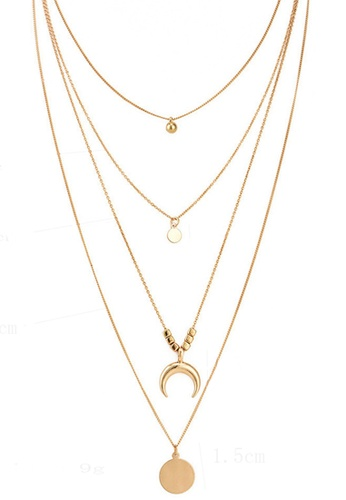 Sunnydaysweety gold 4 in 1 Multi Necklace CA030219GD 0DF13ACF6A6061GS_1