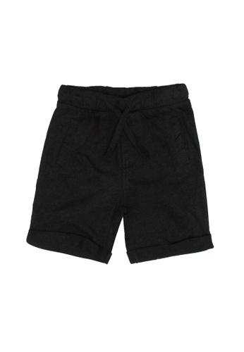 FOX Kids & Baby black Baby Boy Shorts 618DFKAEBBD76FGS_1