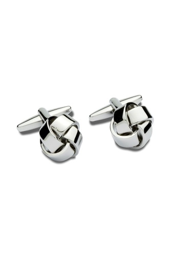 Buckle silver Plain Knot Cufflinks 00FEBACB05E1A0GS_1