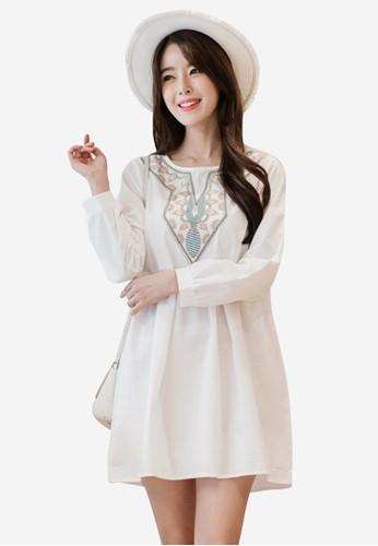 Sesura white Pure Beauty Babydoll Dress SE113AA40OFVPH_1