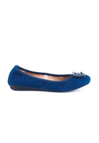 Twenty Eight Shoes blue Massage Suede Leather Flats JD155 2C8EASH2733060GS_1