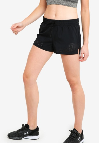 Under Armour black PerpetUAl Woven Shorts 58DABAAF52A425GS_1