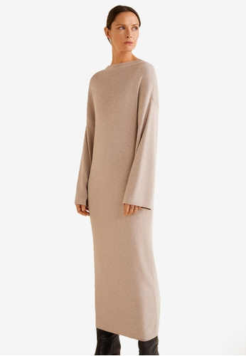 Mango grey Ribbed Soft Dress CA1F2AA4FF0E66GS_1