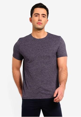 OVS grey Linen And Cotton Blend Melange T-Shirt 8E917AA1E899AEGS_1