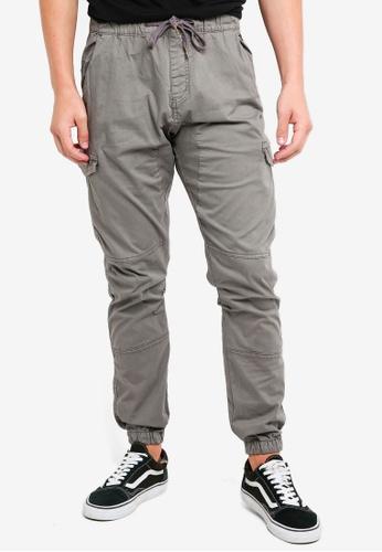 Indicode Jeans 灰色 Lewi Cargo Drawstring Jogger Pants C23E3AA156C1C6GS_1
