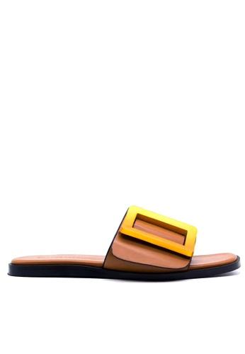 Twenty Eight Shoes 褐色 飾品拖鞋 VS368 TW446SH88IXJHK_1