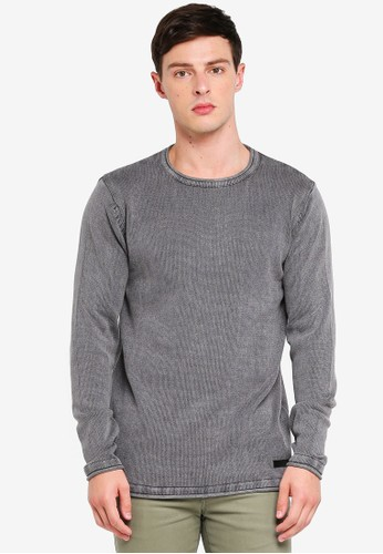 Indicode Jeans grey Cuti Longline Washed Knitted Sweater 96C68AA37664C5GS_1