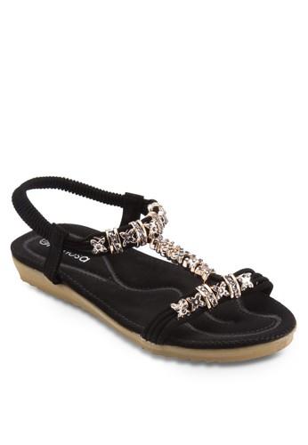 esprit taiwan閃石繞踝平底涼鞋, 女鞋, 鞋