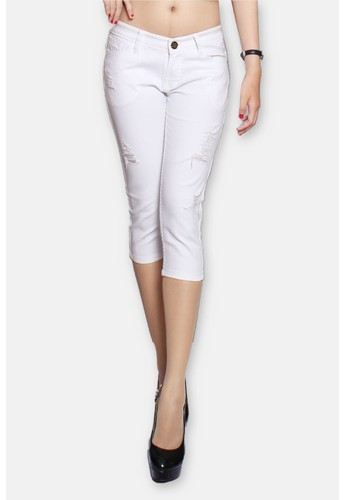 W jeans official white Capri White Zee Ripped Jeans WI851AA88KQXID_1