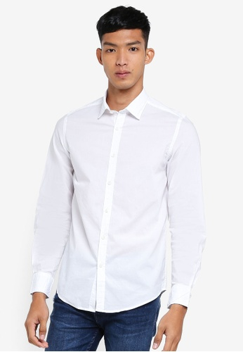 OVS white Casual Shirt 9DF00AAC3F5576GS_1