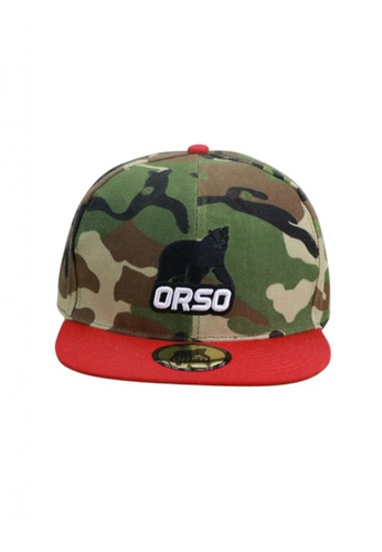 Splice Cufflinks green Orso Limited Edition Red Visor Army Camouflage Design Cotton Cap SP744AC97GFISG_1