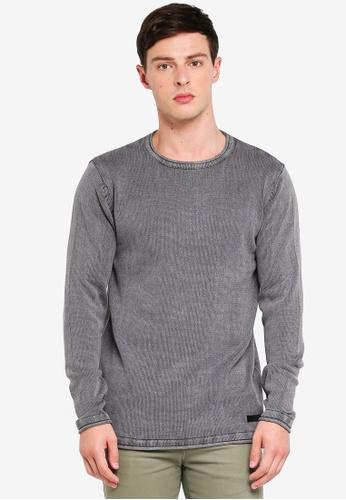 Indicode Jeans 灰色 長版針織衫 96C68AA37664C5GS_1