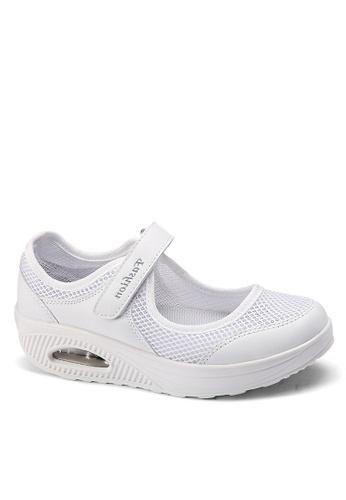 Twenty Eight Shoes 白色 單橫帶網布搖搖鞋 VC699 5531ESH4FCAFDEGS_1