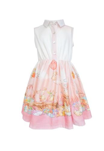 Viva Vida Kids pink and orange Listi Bunnies C2028KA1A21928GS_1