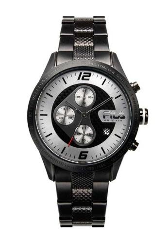 FILA Watches black Fila Chronograph Black Stainless Steel Watch 63C82ACDD66B79GS_1