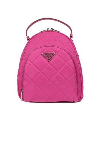 PRADA pink Prada Zaino Quilted Nylon Tessuto Impuntu Backpack Fuxia 1BZ066 891D0AC3F4E585GS_1