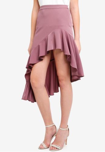 Preen & Proper brown Asymmetric Ruffle Mini Skirt 04E89AAE0F83B6GS_1