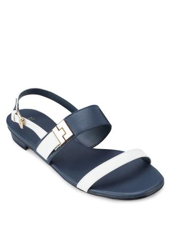 雙色平底涼esprit 台中鞋, 女鞋, 涼鞋
