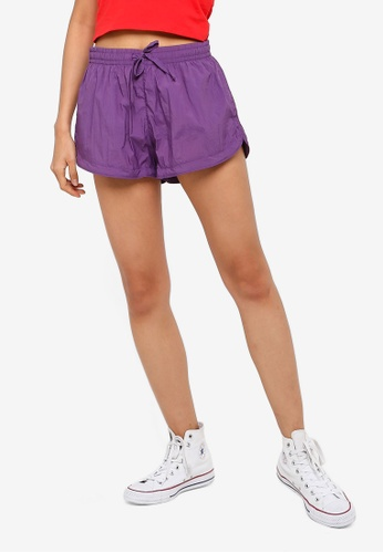 Factorie purple Generic Shell Shorts B442FAAB17F635GS_1