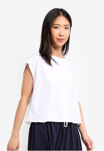 ZALORA BASICS white Basic Oversized Boxy T-Shirt A3435AA5533824GS_1