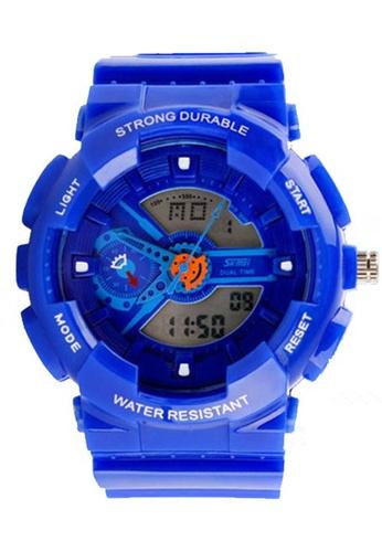 Skmei blue SKMEI 0929 Men's LED Analog Digital Alarm Stopwatch Wristwatch (Blue) SK707AC0RWRKMY_1