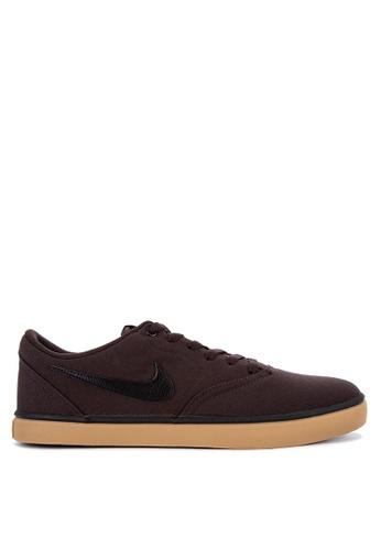 best sneakers c026c 3c5d3 Nike brown Men s Nike Sb Check Solarsoft Canvas Skateboarding Shoes  CB4C5SH5F33475GS 1