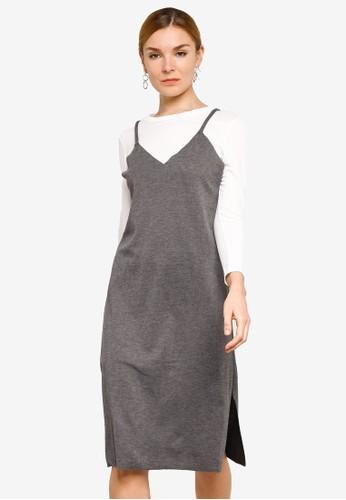 BYN grey 2-in-1 Strap Dress E6C17AAA553CE4GS_1