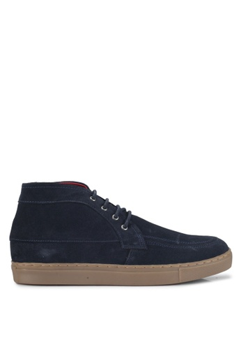 Acuto blue Hi-Cut Suede Sneakers AC283SH0SL7UMY_1