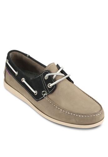 撞色皮esprit 香港革船型鞋, 鞋, 鞋