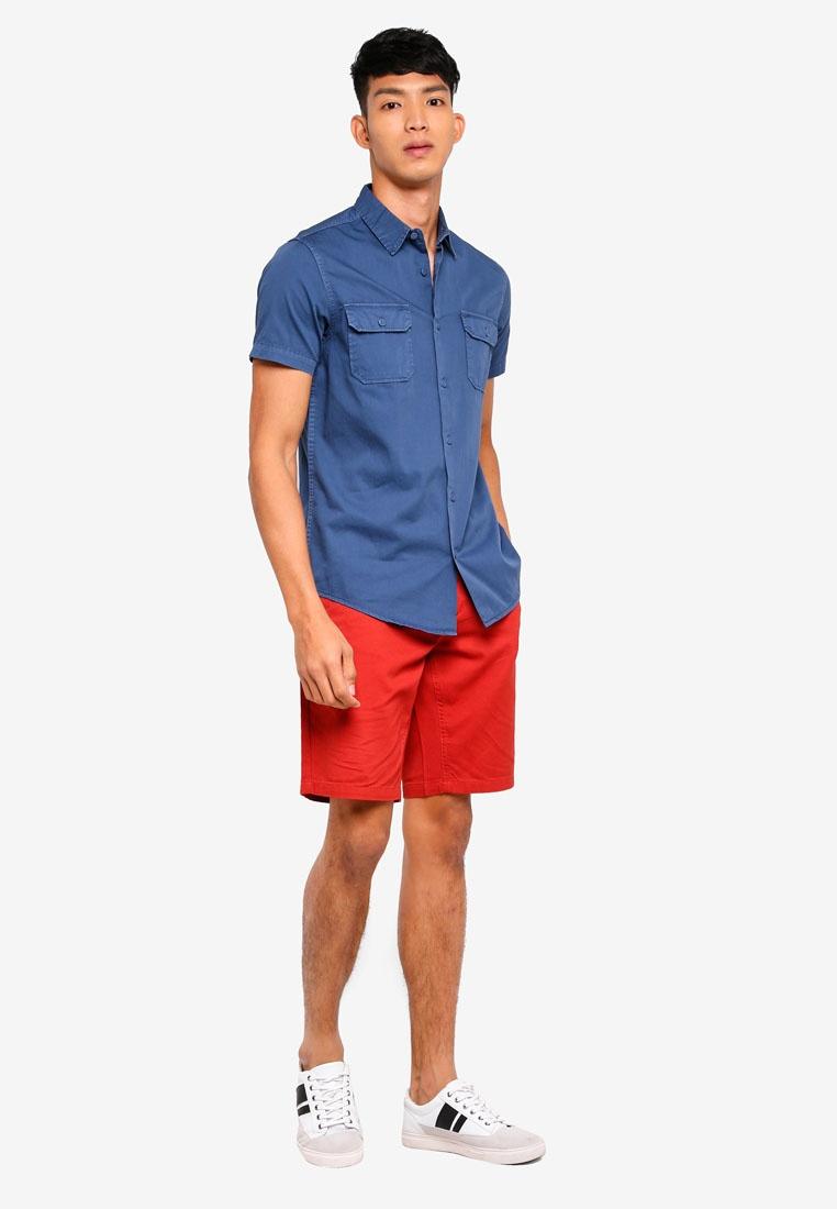 Pocket OVS Shirt Ensign Blue Flap Sq4dS