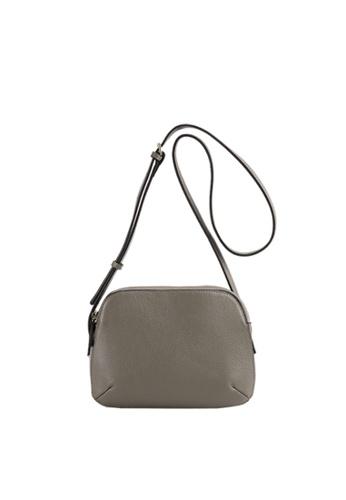 Della Stella grey Sally Cross Bag 25364AC07EF122GS_1