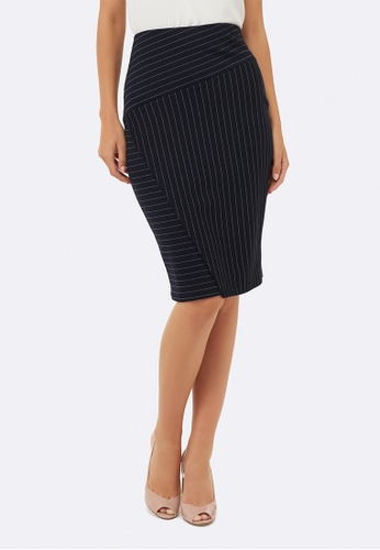 Forever New black Harlow Ponte Pencil Skirt 5F956AAD40E39AGS_1