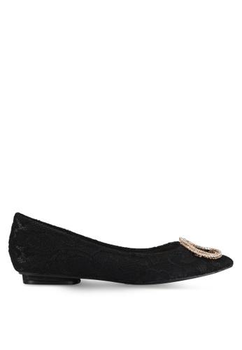 VINCCI black Pointed Toe Flats VI831SH0SY48MY_1