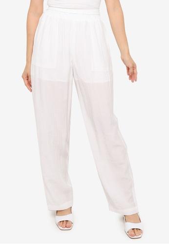 Urban Revivo white Casual Wide-Leg Pants 6EA3BAA57685FAGS_1