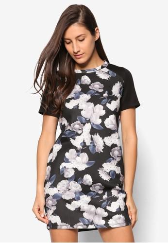 花卉印花直筒式洋裝、 服飾、 洋裝SomethingBorrowed花卉印花直筒式洋裝最新折價